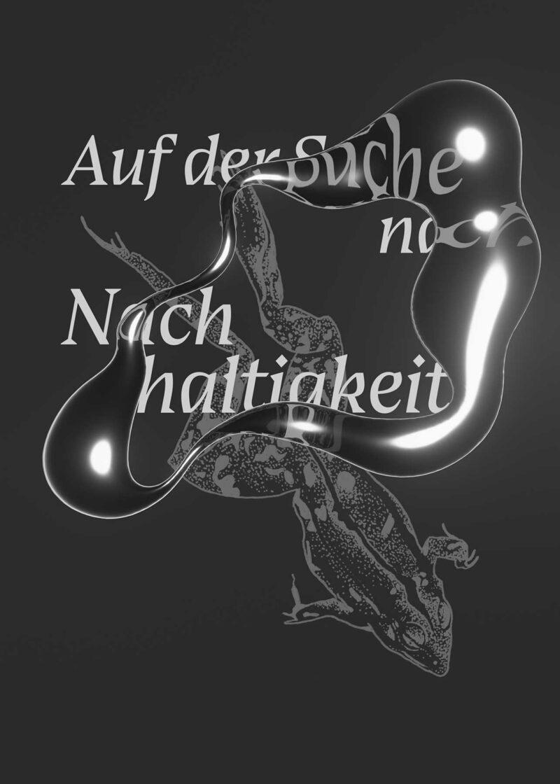 Eine Illustration eines Frosches auf dunklem Hintergrund, darüber der Schriftzug